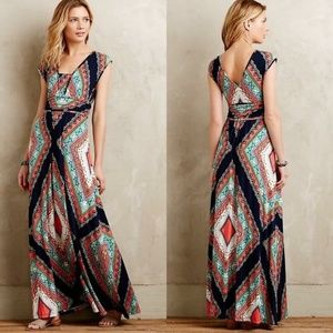 Anthropologie Maeve Verda Dress Maxi L